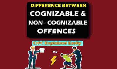 cognizable and non cognizable offences